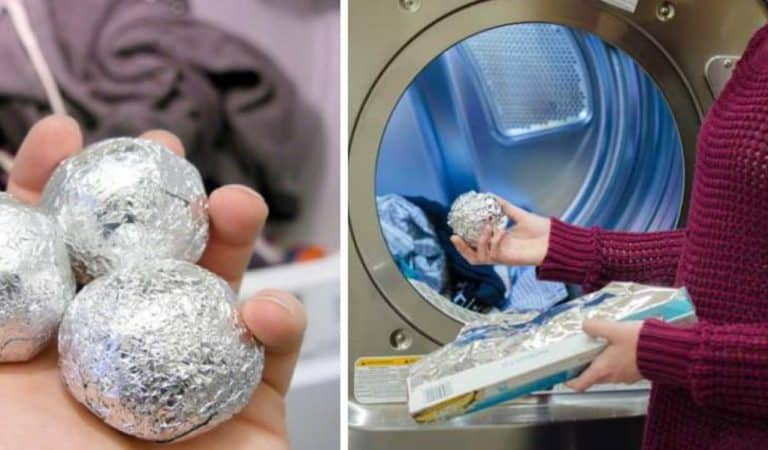 Aluminium foil in the washer/dryer, it will amaze you