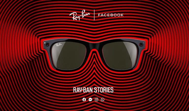 Facebook introduces Ray-Ban Stories smart glasses.